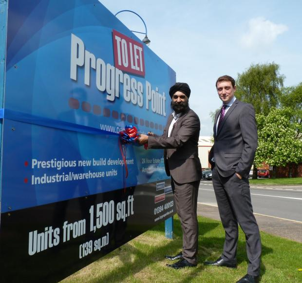 Stourbridge News: Ninder Johal, president of the Black Country Chamber, and Andy Preston, industrial property manager at LCP.