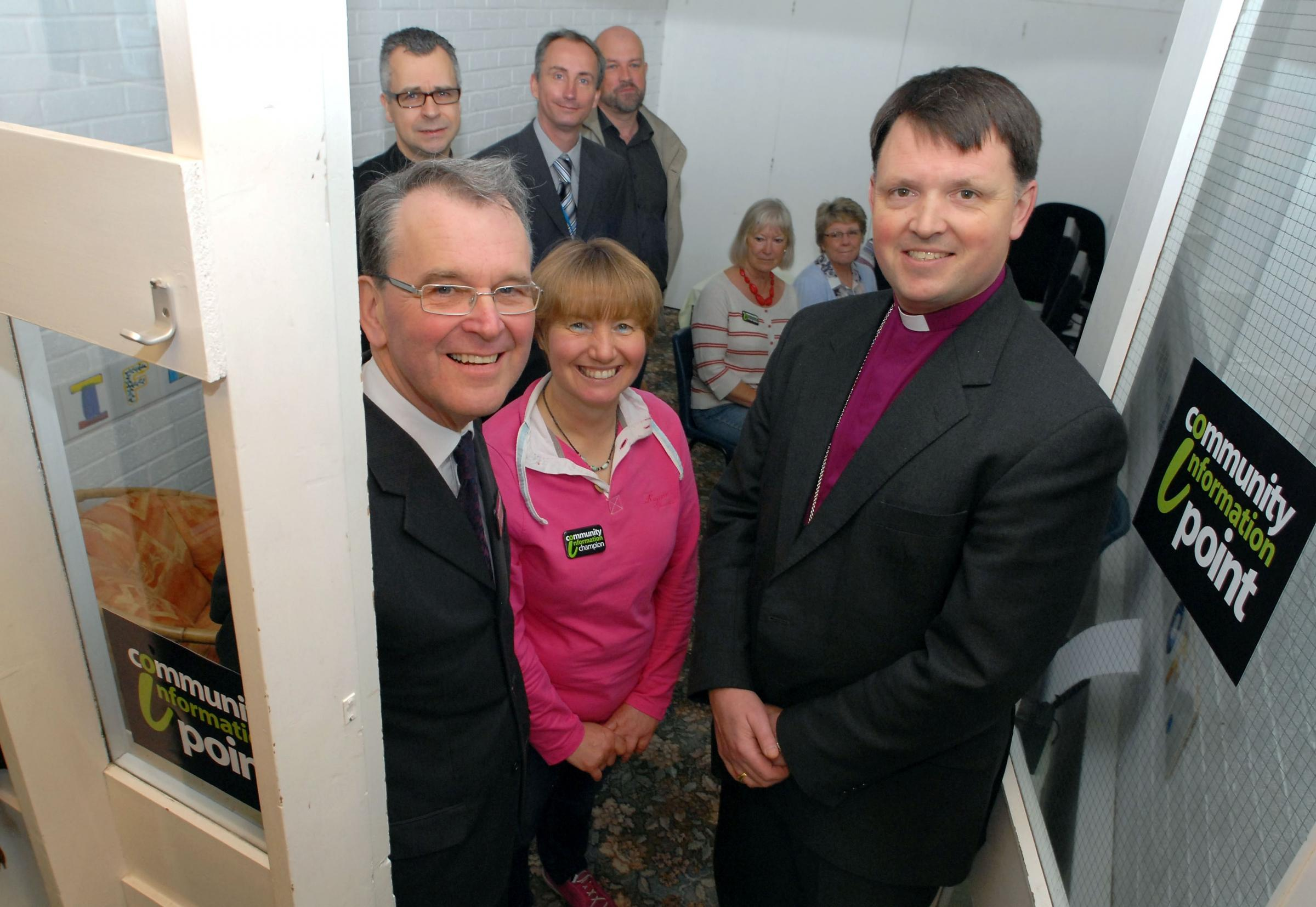 Bishop of Dudley Graham Usher opens the Community Information Point in