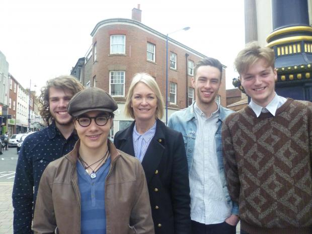 War Kites band members with Margot James MP
