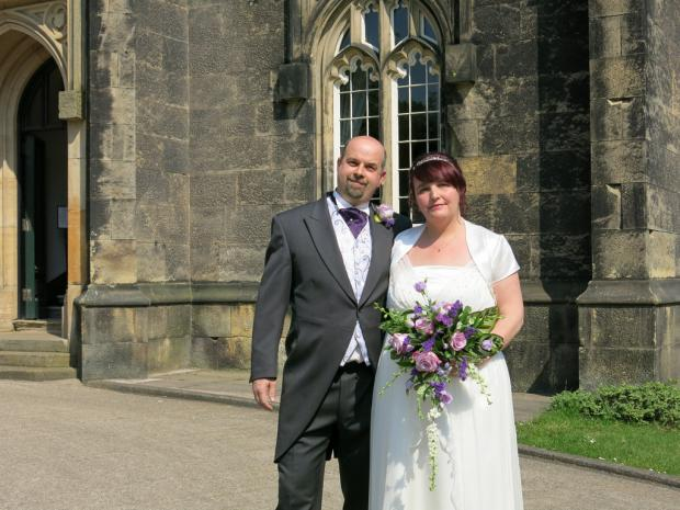 Stourbridge News: Craig and Mandy Perry at Priory Hall where they won a free wedding.