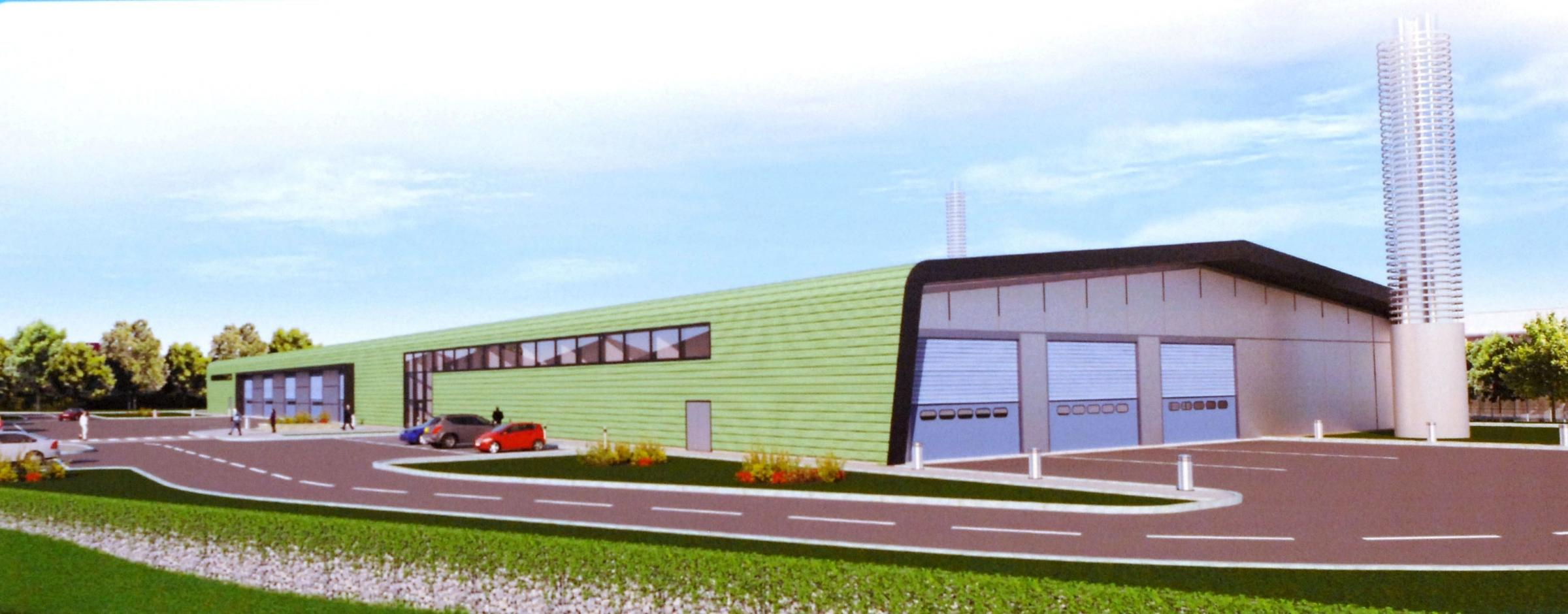 The proposed Clean Power indoor waste recycling centre