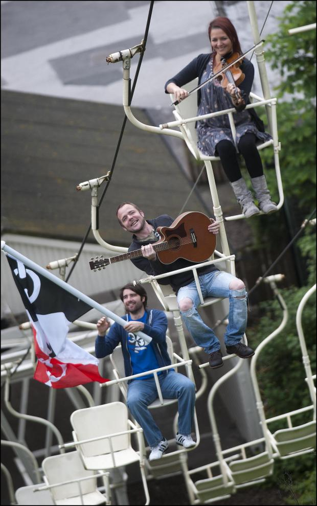 Stourbridge News: The Empty Can launching their Black Country anthem at Dudley Zoo.