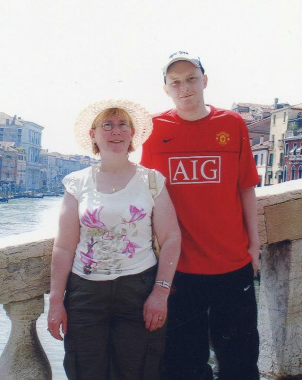 Stourbridge News: Lynn Wood with Neal on a trip to Venice, six weeks before he died.