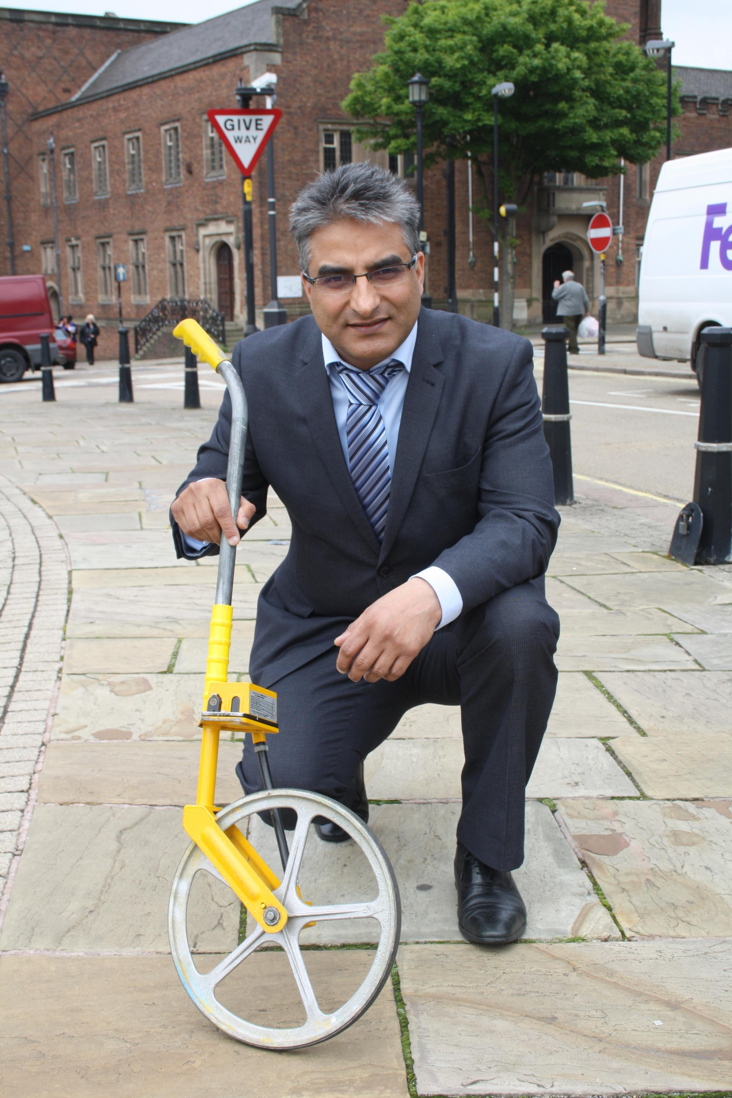 Cllr Kurshid Ahmed is aiming to get the measure of parking space headaches during revamp work in Dudley town centre
