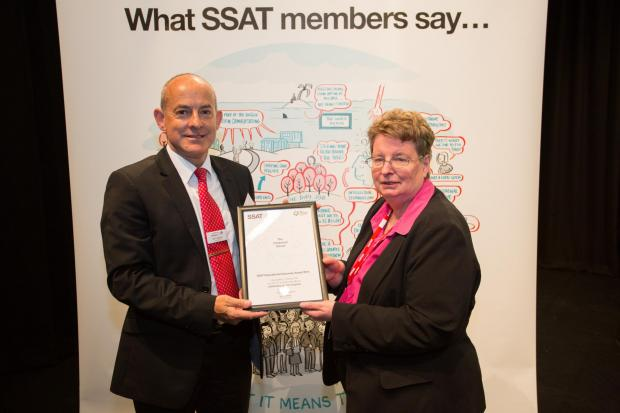 Headteacher Tony Bowles with Sue Williamson, the CEO of SSAT.