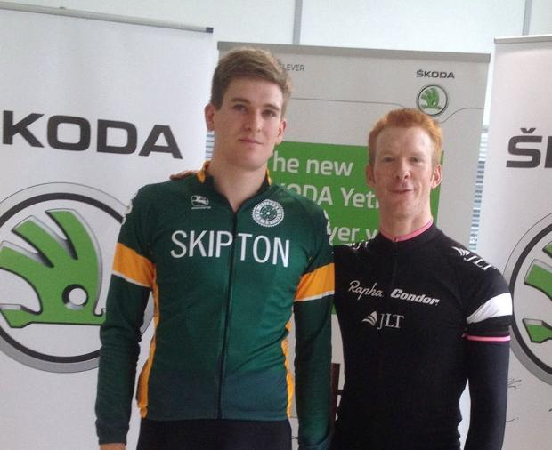 Adam Holmes, left, with Ed Clancy