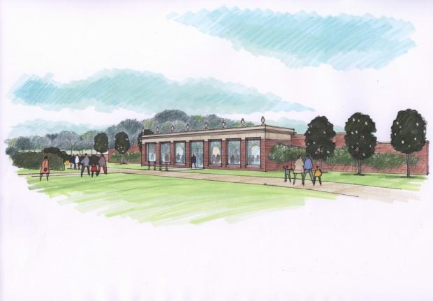 Stourbridge News: Artist's impression of the proposed Hagley Park visitor centre