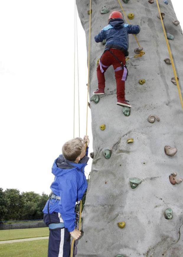 Stourbridge News: Hagley summer fete boosts climbing wall funds