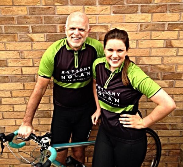 Preparing for the cycling challenge: Roger and Amy Southall.