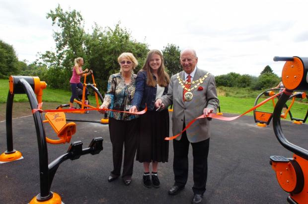 BMM301401a New gym opening at Clent park,The park funded by Bromsgrove District Coun