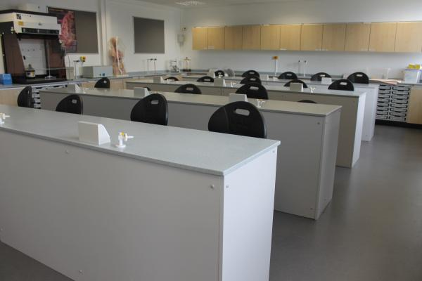 The new science labs.