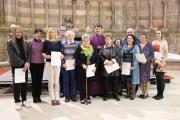 COURSE COMPLETE: The group of Belbroughton Christians who completed the Bishop's Certificate course, receive their certificates from the Bishop of Dudley, Graham Usher.