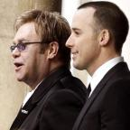 Stourbridge News: Sir Elton John (left) and David Furnish tied the knot in a civil partnership ceremony in 2005