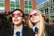 Pedmore students witness the eclipse safely