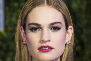 The shoe fits for Lily James