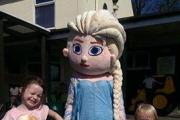 Youngsters enjoy meeting Elsa at the Hare and Hounds charity weekend.