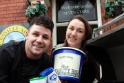 Frankie Witts, pictured right, with her brother Matt - gearing up for the Bank Holiday charity barbecues.