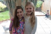 Glynne Primary School pupils Charlotte Silcox and Isabelle Burrows will donate lengths of their hair to the children's cancer charity the Little Princess Trust.