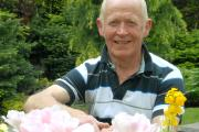 Ron Kerr in his Waxland Road garden which he's opening to raise funds for Mary Stevens Hospice