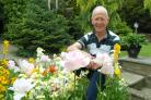 Ron Kerr in his Waxland Road garden which he opened to raise funds for Mary Stevens Hospice
