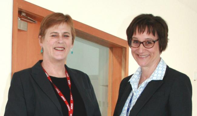 Sharon Phillips is handing over the reins of King Edward VI College to Remley Mann following her retirement.