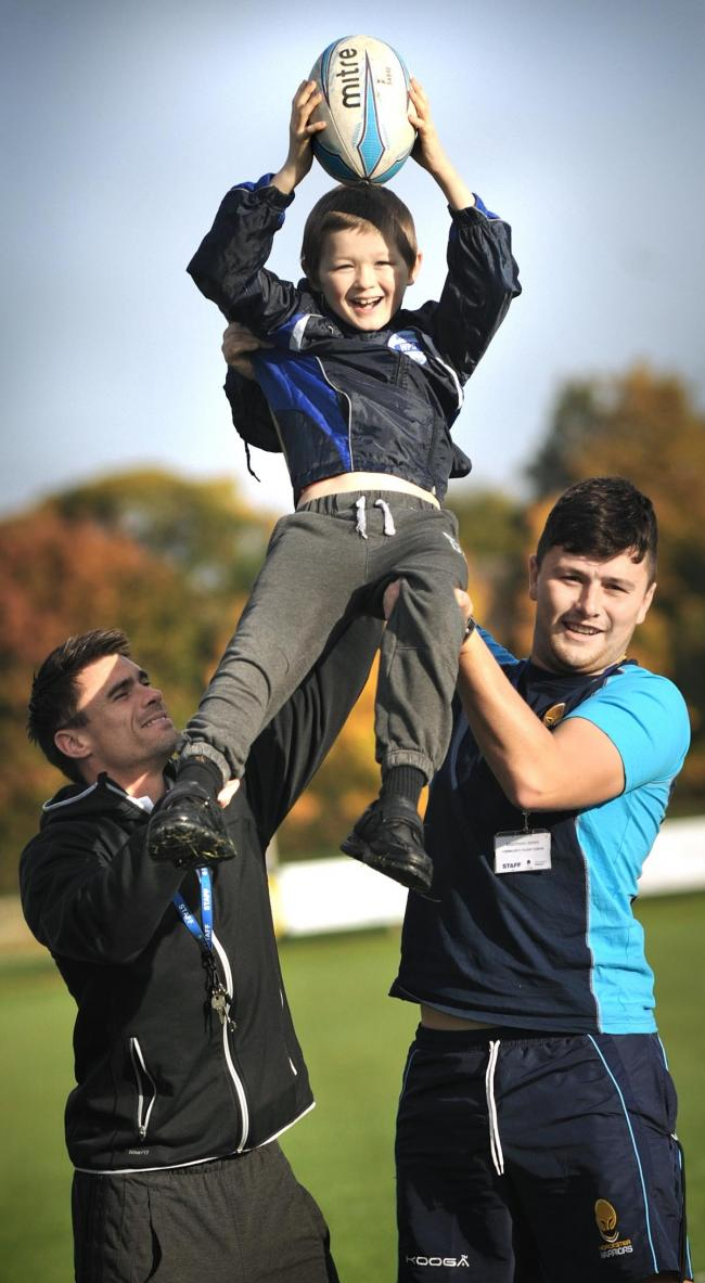 Wollescote Primary School pupils took time out from lessons to try ...