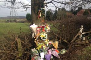 Floral tributes laid in honour of Bridgnorth Road crash victim Lee Wassell