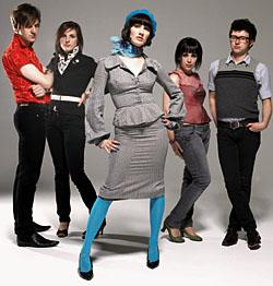 Long Blondes drummer Screech (above, far right)