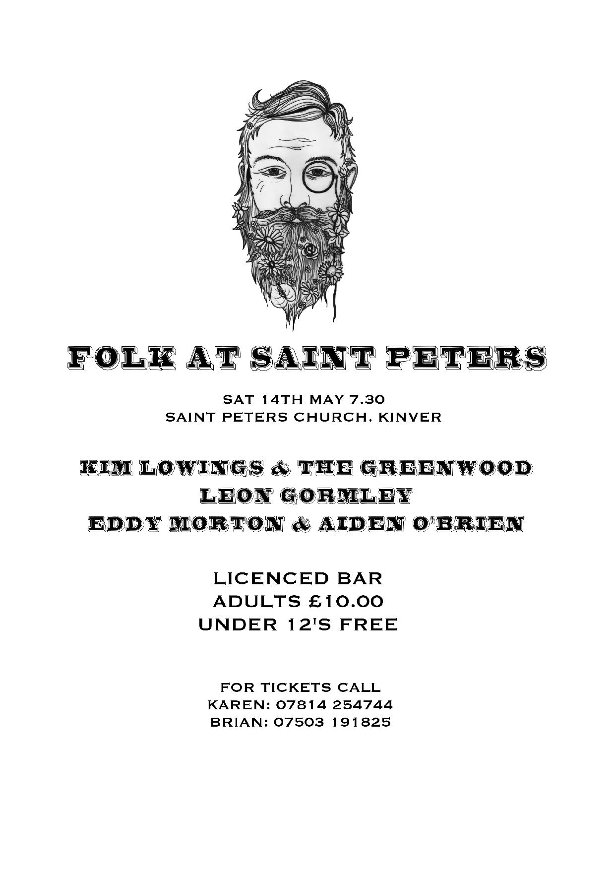 Kinver folk concert to help St Peters Church