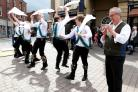 Bedcote Morris performing at the Stourbridge Day of Dance - with Squire Chris Burton, pictured, right.