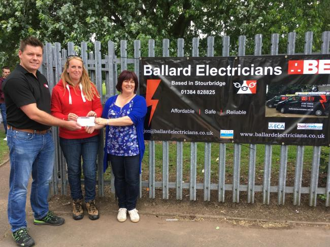 Pedmore-based Ballard Electricians have donated £200 to Gig Mill Primary School to purchase new outdoor equipment