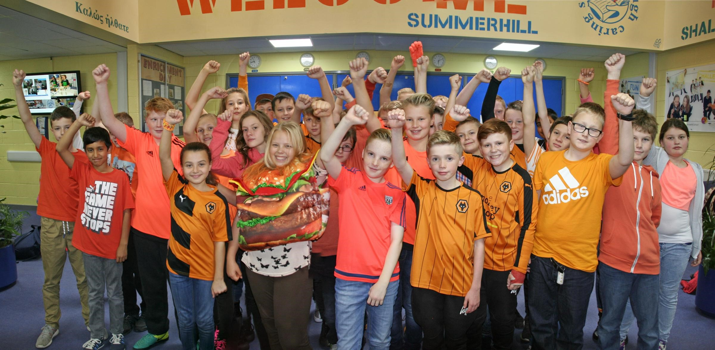 Burgers, pumpkins and tigers all feature as Kingswinford school stands up to cancer