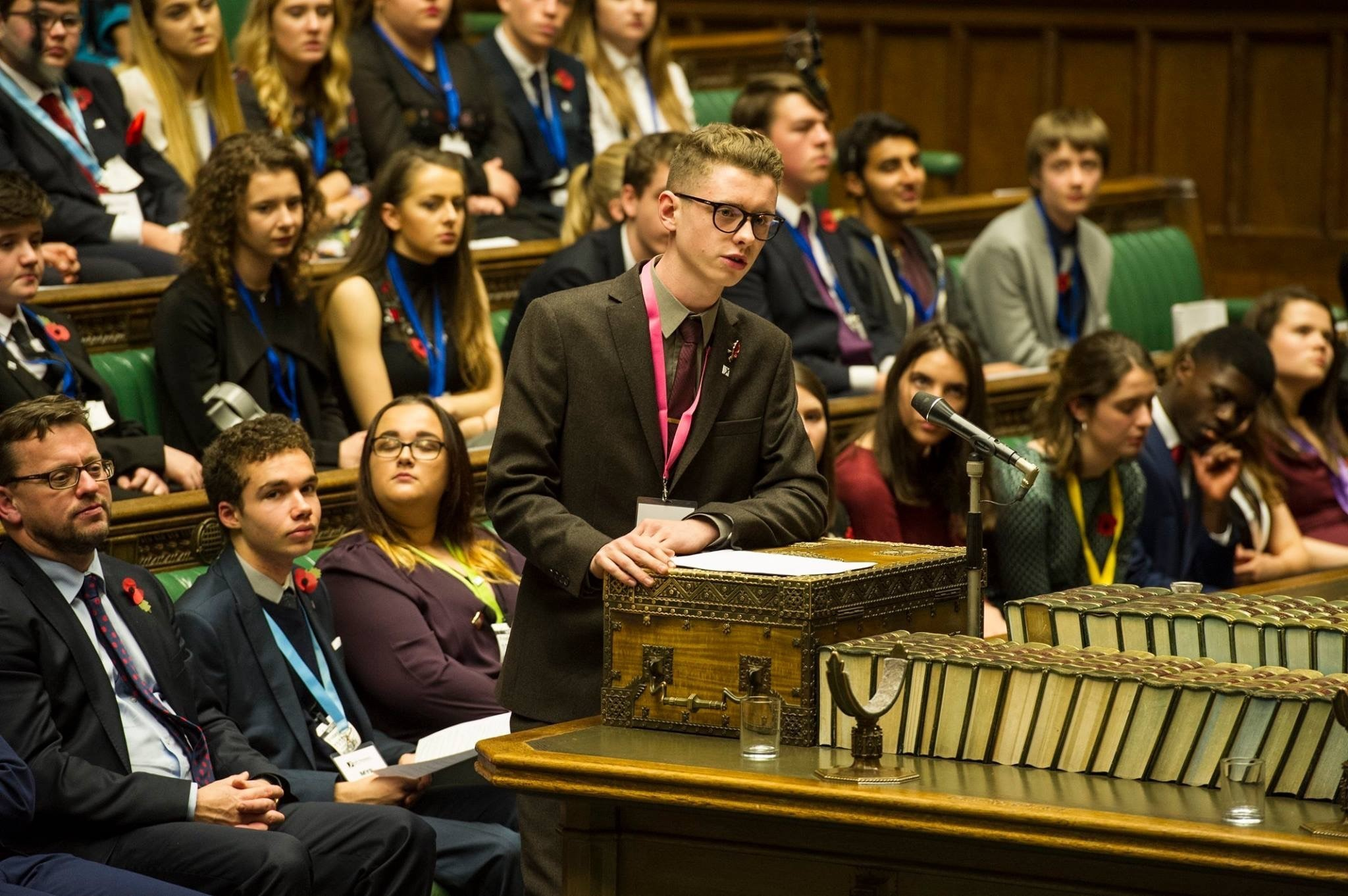 Stourbridge teenager Connor Hill speaking at the annual televised UK Youth Parliament debate in the House of Commons. Photo: Connor Hill
