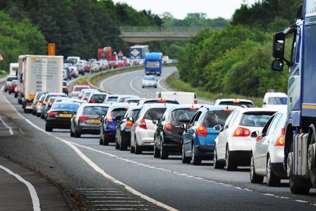 M5 slip road closed due to