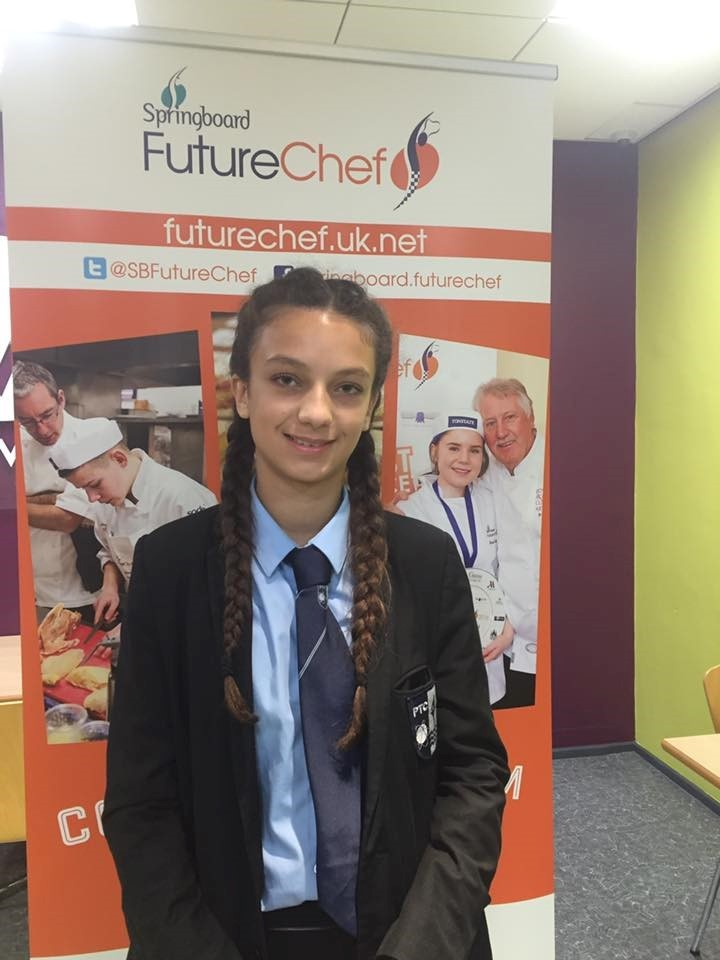 HOORAY: Imogen Hunter, aged 14, cooked her way to the regional heats of a prestigious competition. Picture supplied by Springboard.