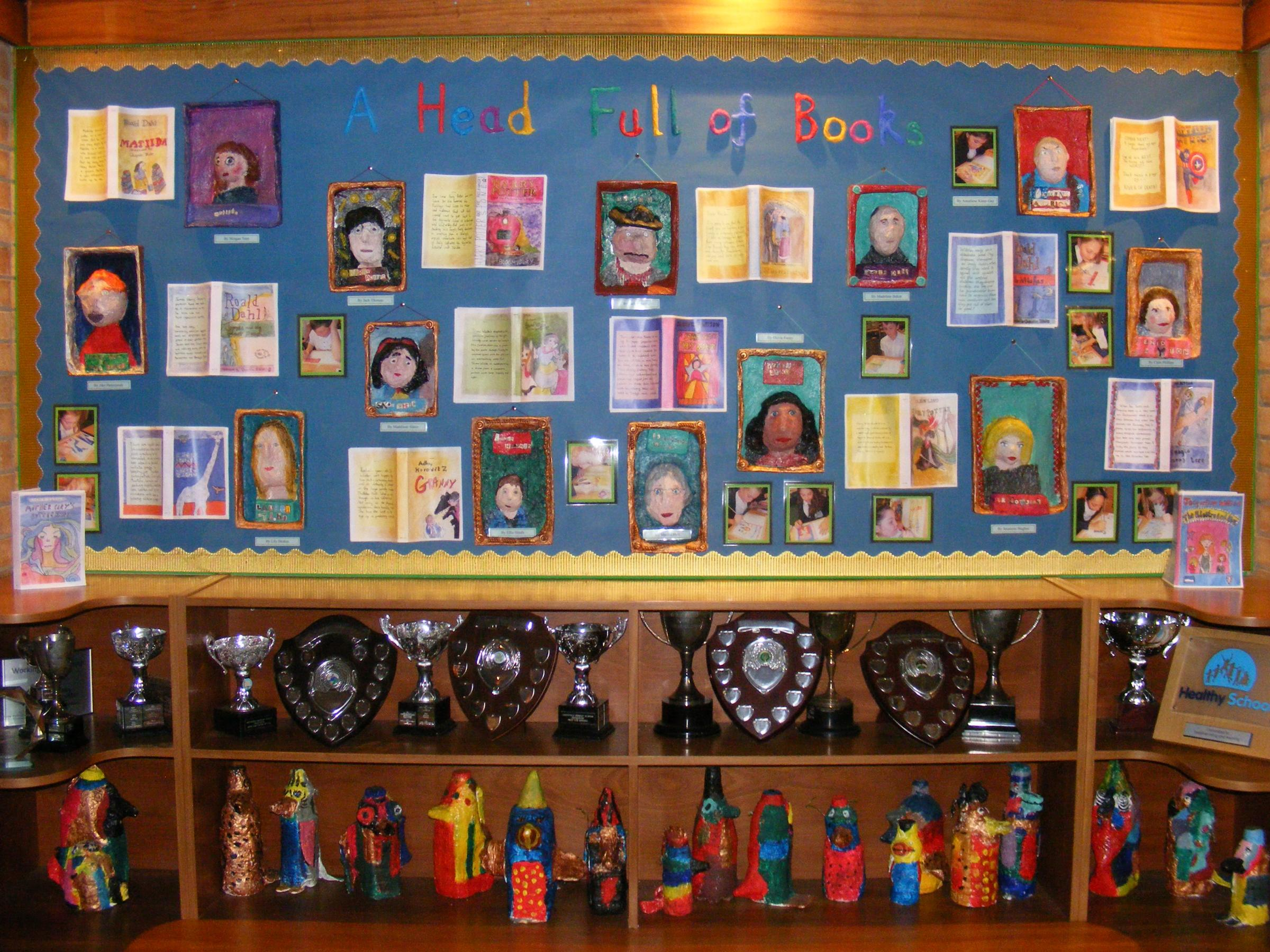Greenfield's 3D portrait gallery of famous authors and book characters