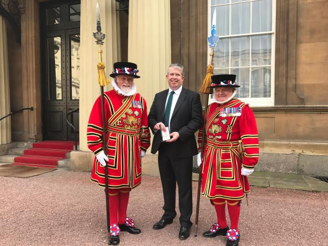 Dr David Hegarty MBE at Buckingham Palace