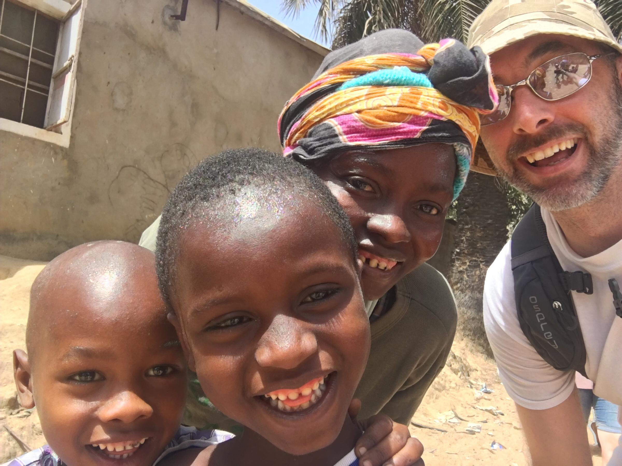 Lee Clarke, founder of Give Penny, was part of this year's Project Gambia trip. Photo: Project Gambia