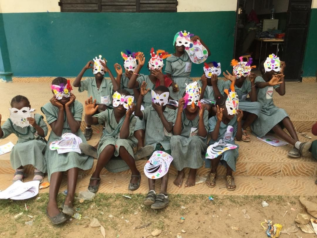 Art and craft at Half Dye school. Photo: Project Gambia