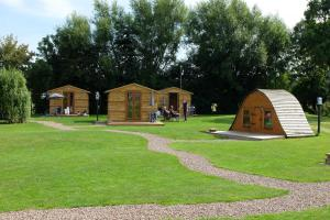 You could enjoy a weekend in a glamping pod