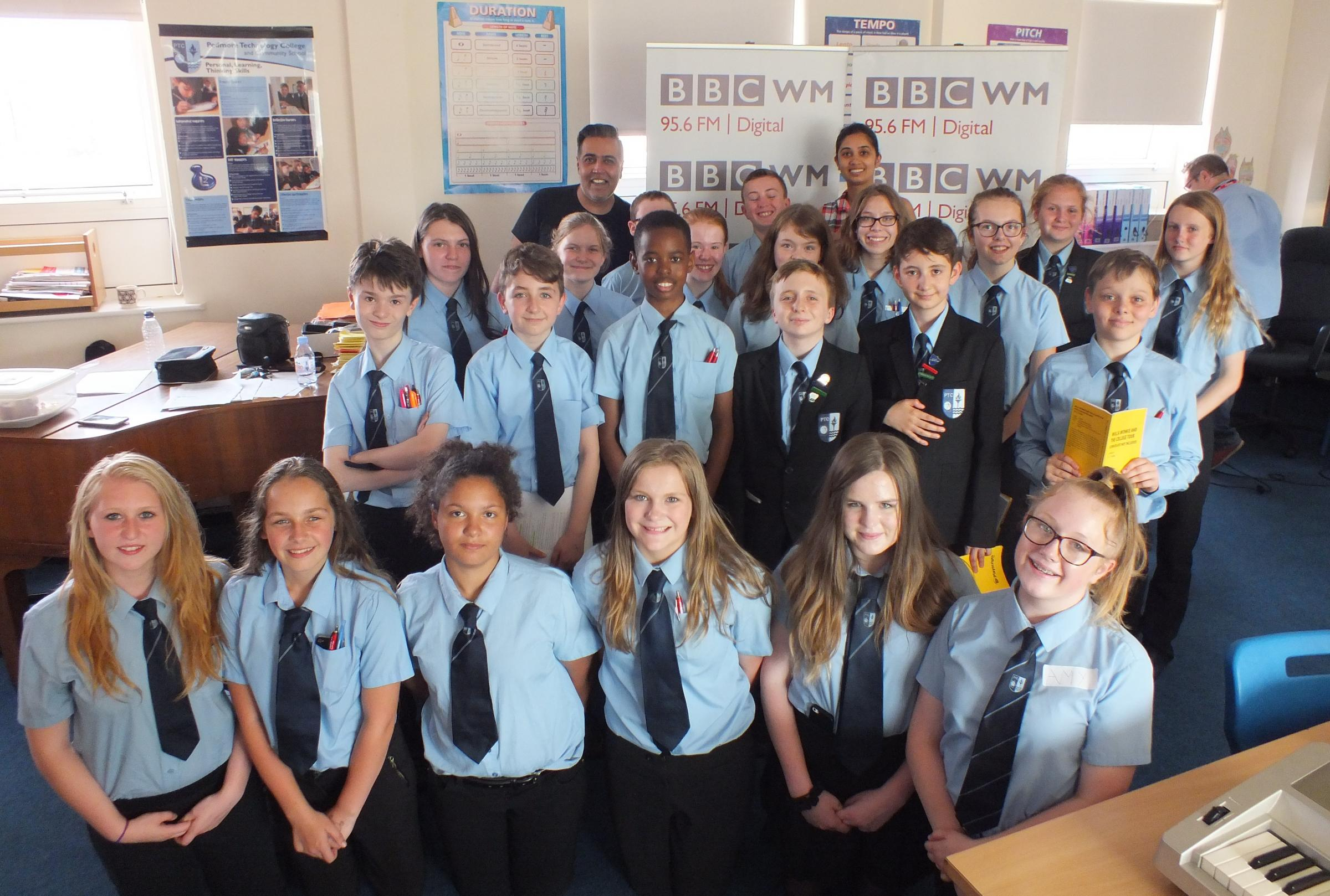 Students shine on radio as BBC WM DJs broadcast from Stourbridge school
