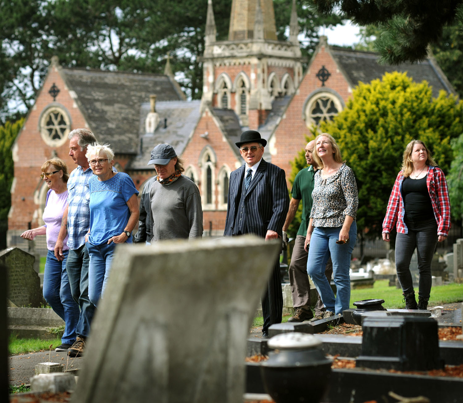 Tour guides get ready for the free open day at Lye and Wollescote Cemetery taking place on Saturday September 2. Pic - Phil Loach