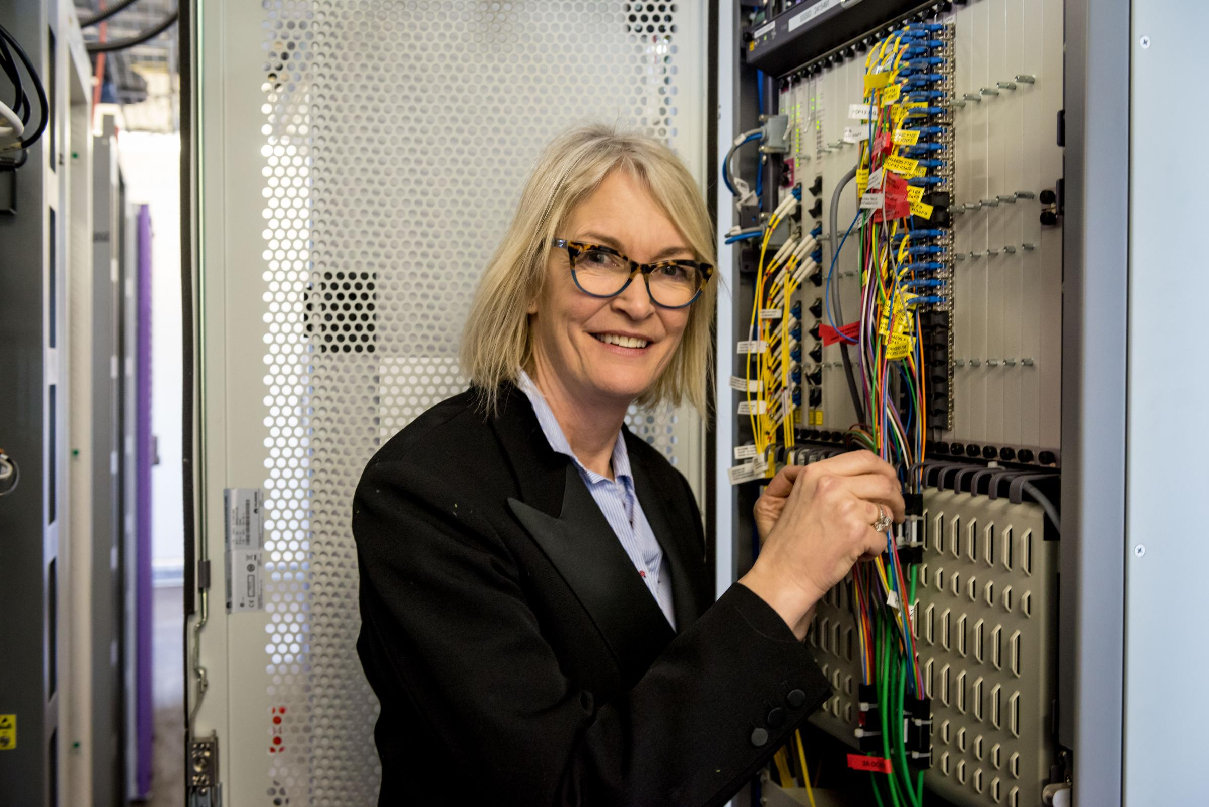 MP Margot James - Minister for Digital and the Creative Industries - takes a peek behind the scenes at the Stourbridge Telephone Exchange.