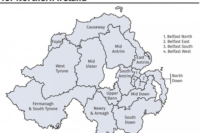 Boundary commission stresses impartiality over proposed ni infographic of revised proposals for constituency boundaries for northern ireland pa graphicspress association malvernweather Images