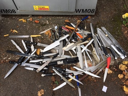 Police pledge to crack down on knife crime. Photo: West Midlands PCC