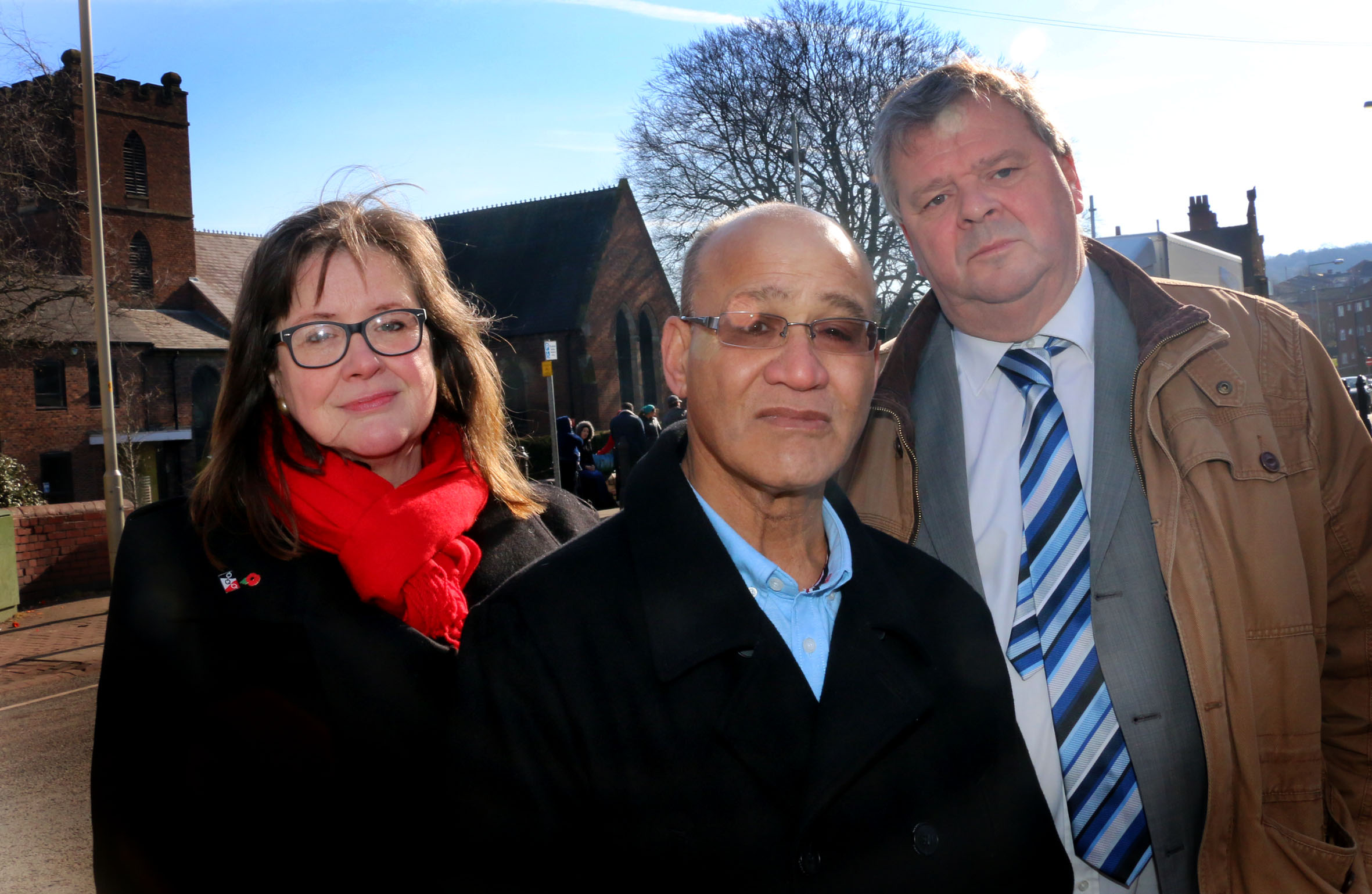 Councillors Gaye Partridge, Mohammed Hanif and Tim Crumpton