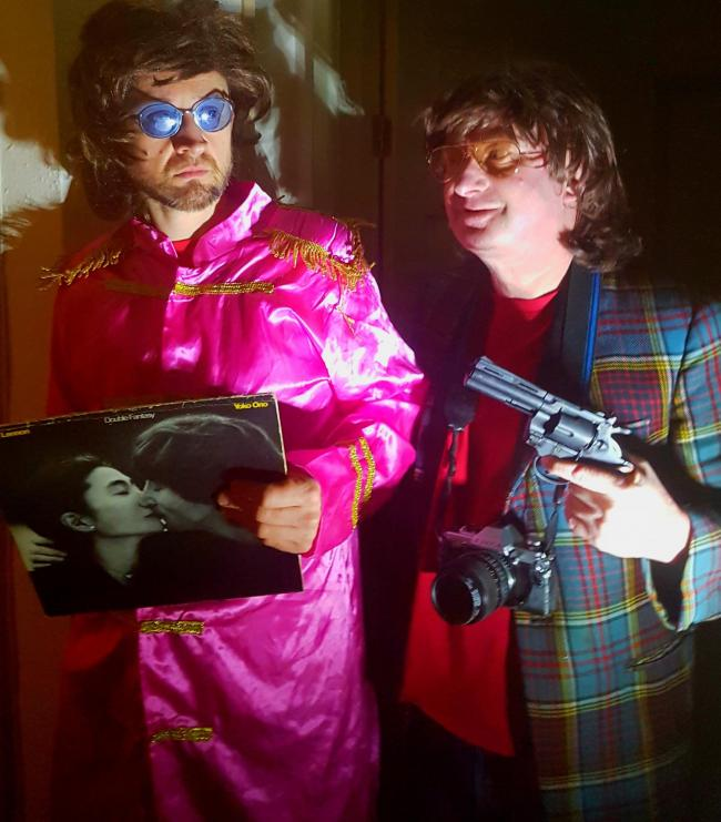 'Imagine?', staring David Francis as Stuart/John Lennon and Mark Moran as Davey Kay, is part of a double bill of plays at Stourbridge's Claptrap The Venue on Monday (July 23).