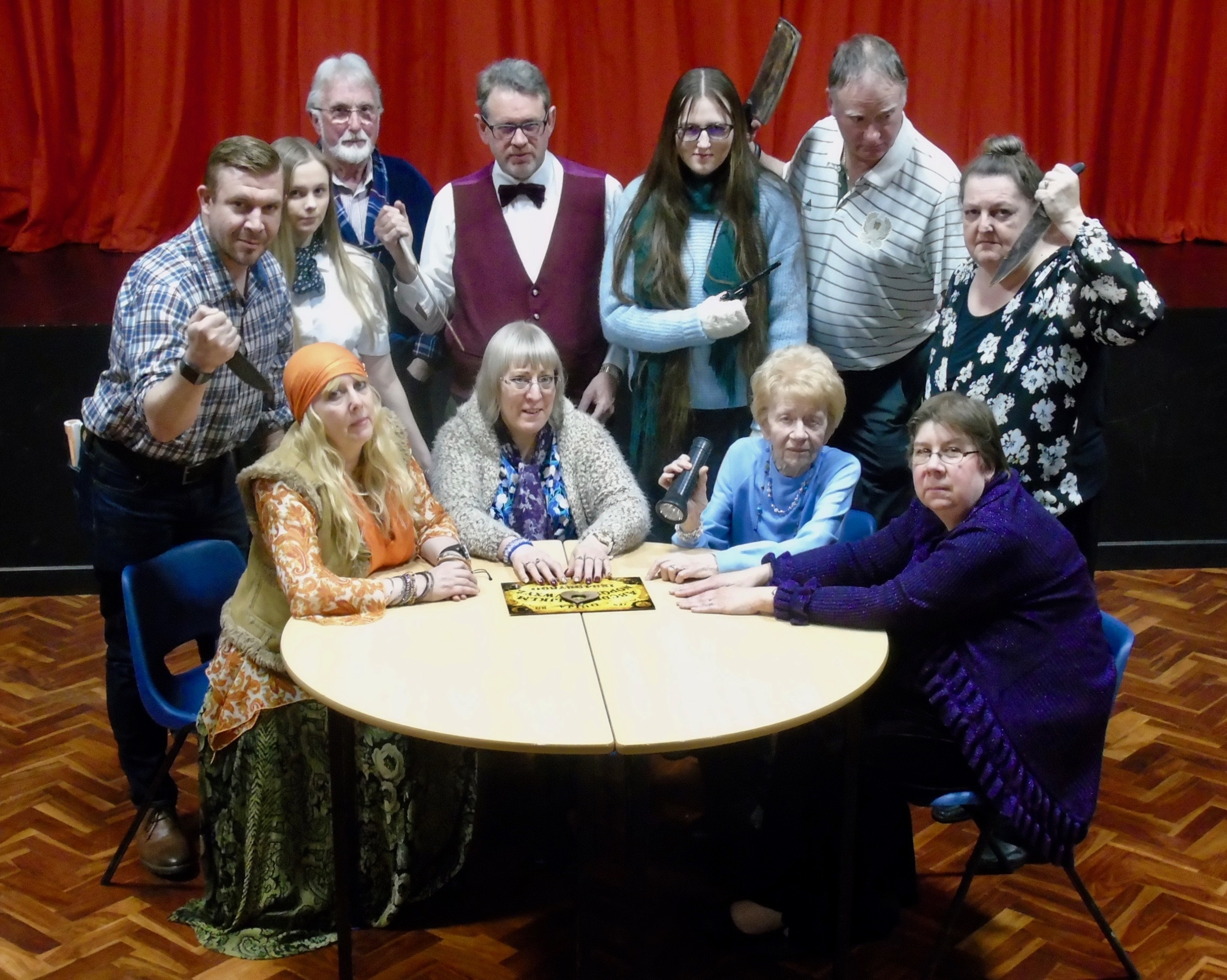 L- r - Nick Greaves, Jane Fleetwood, Megan Jones, Jim Fisher, Norma Whittaker, Dave Southall, Sarah Hickman, Jean Cotton, Pete Goldsmith, Jane Blest and Sandra Jones.