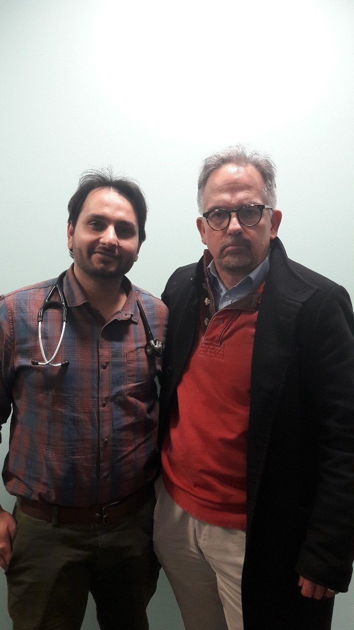 Dr David Nicholl, right, with Dr Syed Kazmi