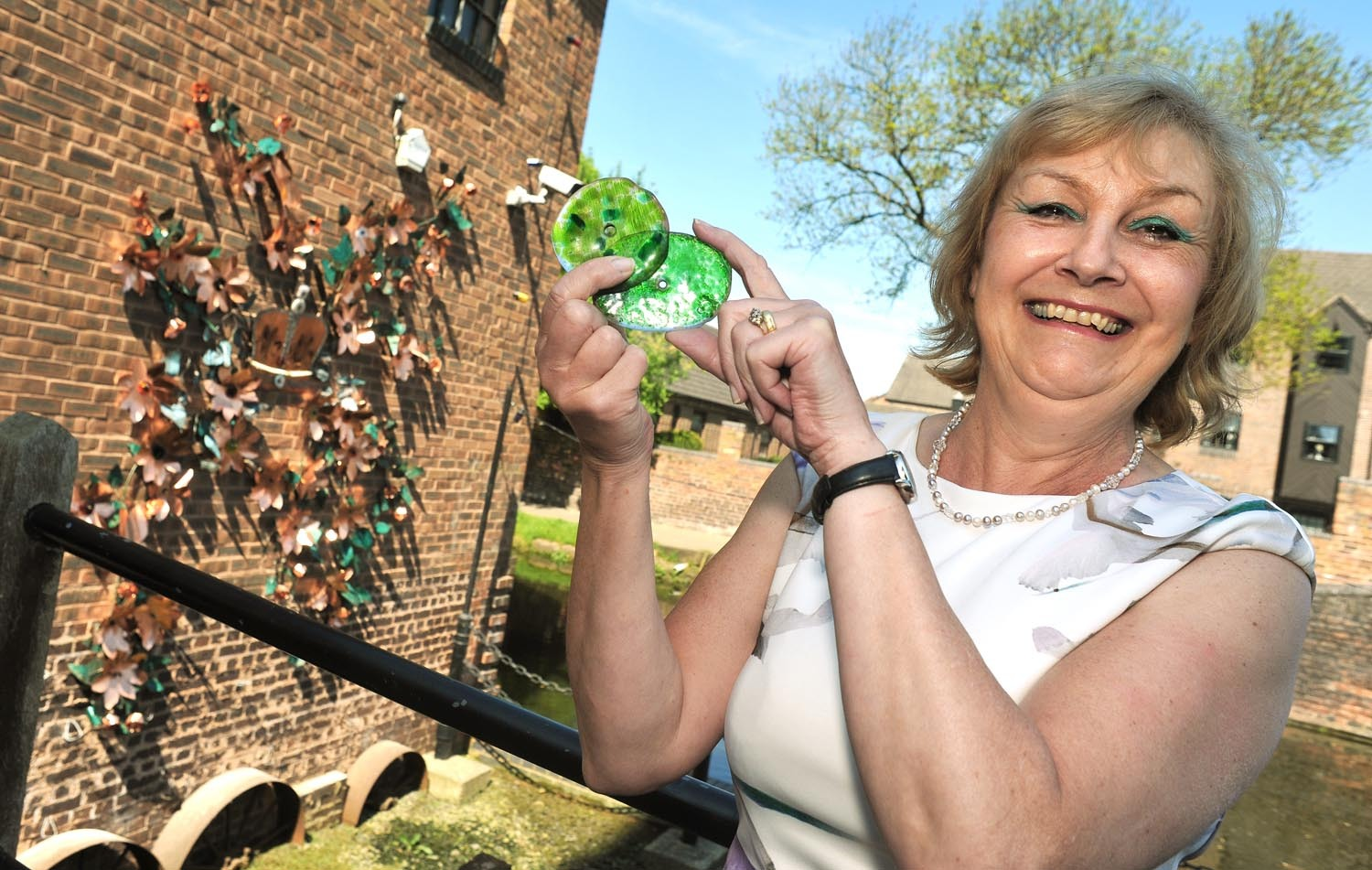 Artist Michele Gulliver's buddleia vine which has donned the side of the Red House Glass Cone is getting a revamp.